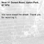 We have swept the street. Thank you for reporting it.-91 Dorset Road, Upton Park, E7 8PX
