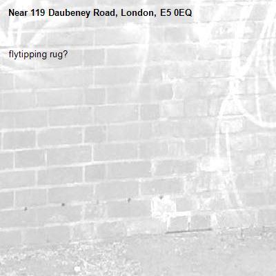 flytipping rug?-119 Daubeney Road, London, E5 0EQ