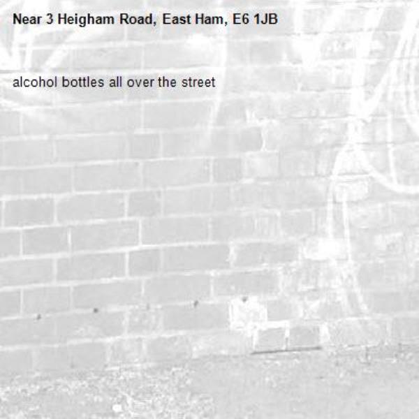 alcohol bottles all over the street-3 Heigham Road, East Ham, E6 1JB