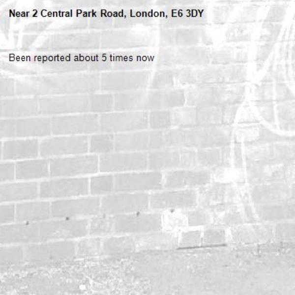 Been reported about 5 times now -2 Central Park Road, London, E6 3DY