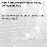 We have swept the street. Thank you for reporting it.-Forest Point Windsor Road, London, E7 0QS