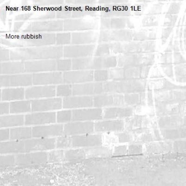 More rubbish -168 Sherwood Street, Reading, RG30 1LE