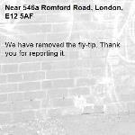 We have removed the fly-tip. Thank you for reporting it.-546a Romford Road, London, E12 5AF