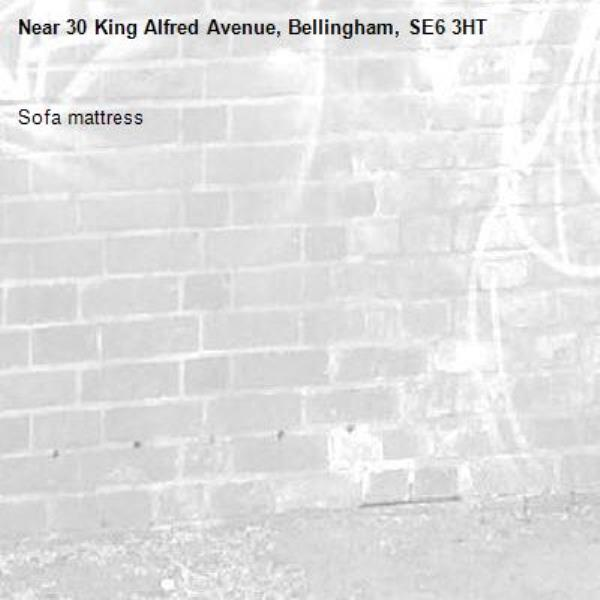 Sofa mattress -30 King Alfred Avenue, Bellingham, SE6 3HT