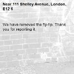 We have removed the fly-tip. Thank you for reporting it.-111 Shelley Avenue, London, E12 6