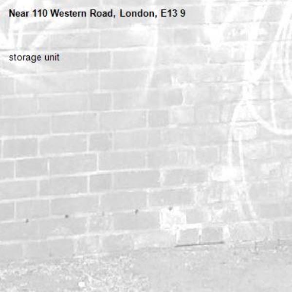 storage unit-110 Western Road, London, E13 9