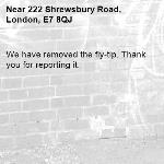 We have removed the fly-tip. Thank you for reporting it.-222 Shrewsbury Road, London, E7 8QJ