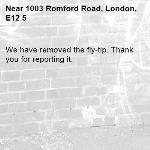 We have removed the fly-tip. Thank you for reporting it.-1003 Romford Road, London, E12 5
