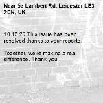 10.12.20 This issue has been resolved thanks to your reports.