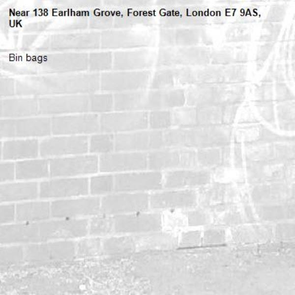 Bin bags-138 Earlham Grove, Forest Gate, London E7 9AS, UK