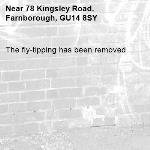The fly-tipping has been removed.-78 Kingsley Road, Farnborough, GU14 8SY