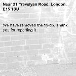 We have removed the fly-tip. Thank you for reporting it.-21 Trevelyan Road, London, E15 1SU