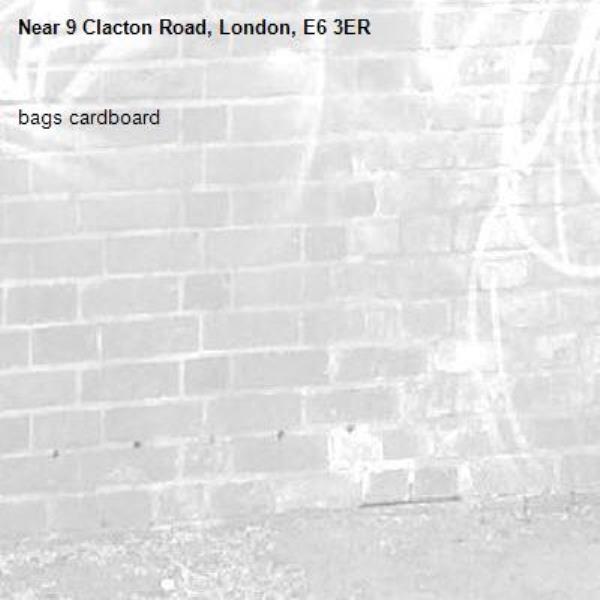 bags cardboard-9 Clacton Road, London, E6 3ER