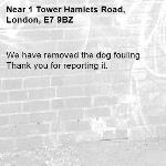 We have removed the dog fouling. Thank you for reporting it.-1 Tower Hamlets Road, London, E7 9BZ