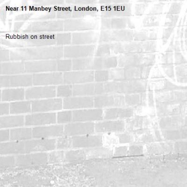 Rubbish on street-11 Manbey Street, London, E15 1EU