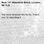 We have removed the fly-tip. Thank you for reporting it.-141 Wakefield Street, London, E6 1LG