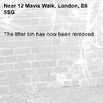 The litter bin has now been removed.-12 Mavis Walk, London, E6 5SG