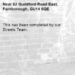 This has been completed by our Streets Team.-82 Guildford Road East, Farnborough, GU14 6QE