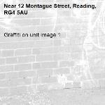 Graffiti on unit image 1-12 Montague Street, Reading, RG4 5AU