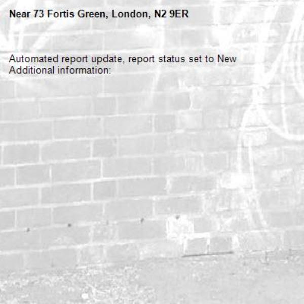 Automated report update, report status set to New