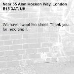 We have swept the street. Thank you for reporting it.-55 Alan Hocken Way, London E15 3AT, UK