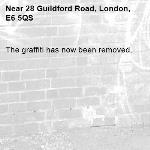The graffiti has now been removed.-28 Guildford Road, London, E6 5QS