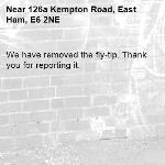 We have removed the fly-tip. Thank you for reporting it.-126a Kempton Road, East Ham, E6 2NE