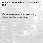 We have removed the dog fouling. Thank you for reporting it.-68 Odessa Road, London, E7 9BQ