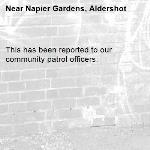 This has been reported to our community patrol officers. -Napier Gardens, Aldershot
