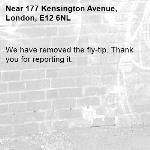 We have removed the fly-tip. Thank you for reporting it.-177 Kensington Avenue, London, E12 6NL