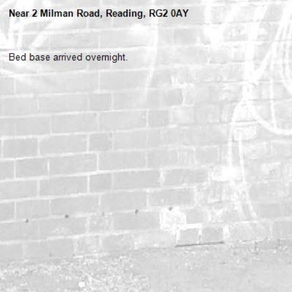 Bed base arrived overnight.-2 Milman Road, Reading, RG2 0AY