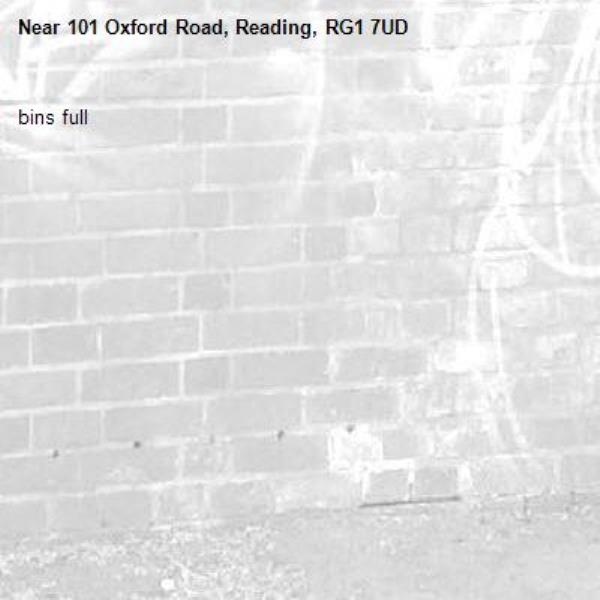 bins full-101 Oxford Road, Reading, RG1 7UD