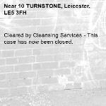 Cleared by Cleansing Services - This case has now been closed.  -10 TURNSTONE, Leicester, LE5 3FH