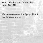 We have removed the fly-tip. Thank you for reporting it.-199a Plashet Grove, East Ham, E6 1BX