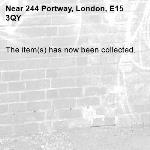 The item(s) has now been collected.-244 Portway, London, E15 3QY