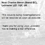 This issue is being investigated and will be resolved as soon as possible.   Thank you for using Love Leicester. You're making a real difference. -Charles Street (Stand EC), Leicester LE1 1QF, UK