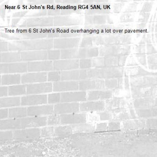 Tree from 6 St John's Road overhanging a lot over pavement.-6 St John's Rd, Reading RG4 5AN, UK