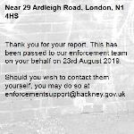 Thank you for your report. This has been passed to our enforcement team on your behalf on 23rd August 2019.