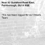 This has been logged for our Streets Team-82 Guildford Road East, Farnborough, GU14 6QE