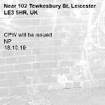 CPW will be issued