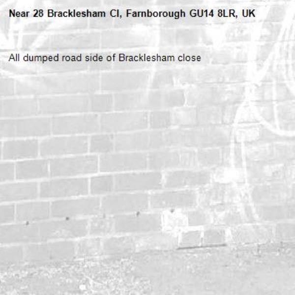 All dumped road side of Bracklesham close -28 Bracklesham Cl, Farnborough GU14 8LR, UK