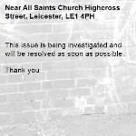 This issue is being investigated and will be resolved as soon as possible.   Thank you -All Saints Church Highcross Street, Leicester, LE1 4PH