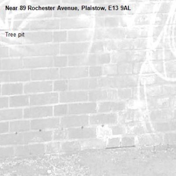 Tree pit-89 Rochester Avenue, Plaistow, E13 9AL