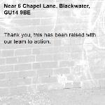 Thank you, this has been raised with our team to action.-6 Chapel Lane, Blackwater, GU14 9BE