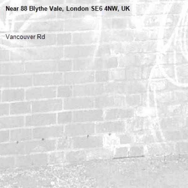 Vancouver Rd -88 Blythe Vale, London SE6 4NW, UK