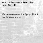 We have removed the fly-tip. Thank you for reporting it.-28 Grosvenor Road, East Ham, E6 1HE