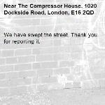 We have swept the street. Thank you for reporting it.-The Compressor House, 1020 Dockside Road, London, E16 2QD