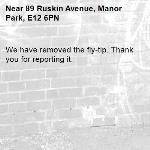 We have removed the fly-tip. Thank you for reporting it.-89 Ruskin Avenue, Manor Park, E12 6PN