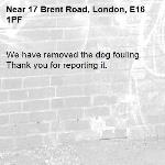 We have removed the dog fouling. Thank you for reporting it.-17 Brent Road, London, E16 1PF