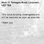 This issue is being investigated and will be resolved as soon as possible.   Thank you -25 Tarragon Road, Leicester, LE2 7EA